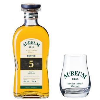 Ziegler Aureum Peated Whisky 47%vol. 0,7l inkl. edlem Whisky Becher Ziegler