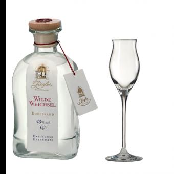 Ziegler Wilde Weichsel 43%vol. 0,7l + Gratis Edelbrand-Glas